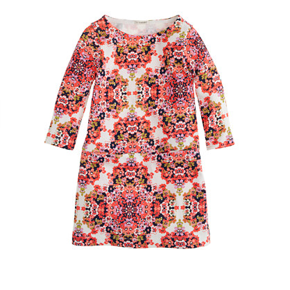 Girls' Jules dress in neon coral floral