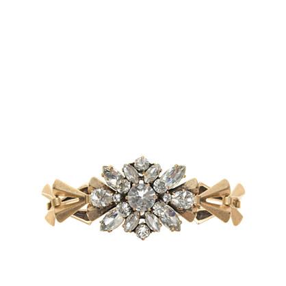 Crystal chevron-link bracelet