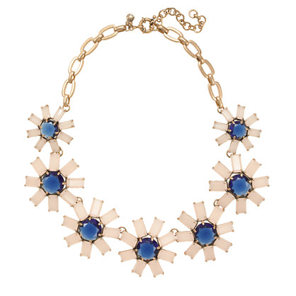 Geometric floral necklace