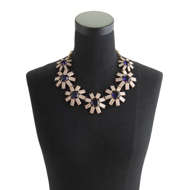 Geometric floral necklace