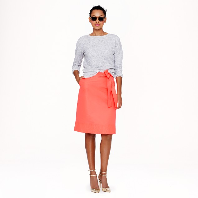 Collection neon faille skirt