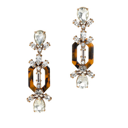 Crystal and tortoise earrings