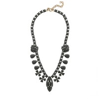 Coated stone statement necklace