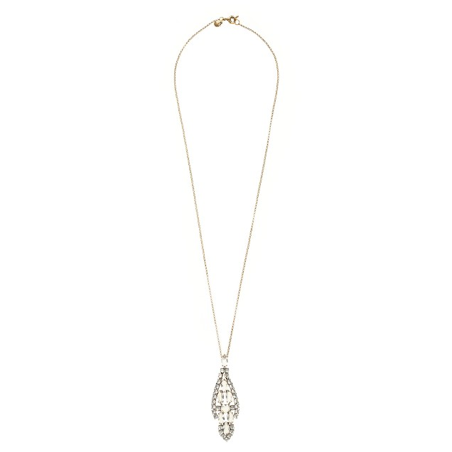 Crystal icicle pendant