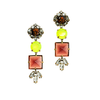 Glass mix earrings