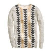 Vintage sweatshirt in metallic triangles