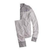 Union suit in stripe