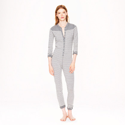Union suit in stripe