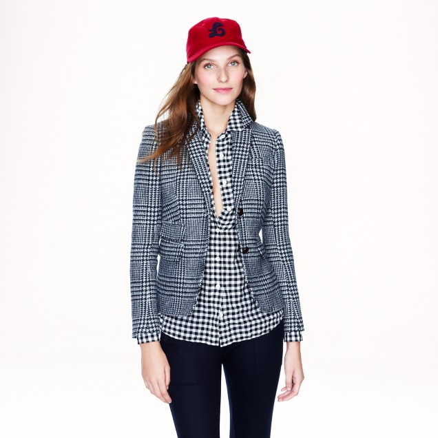 Schoolboy blazer in glen plaid