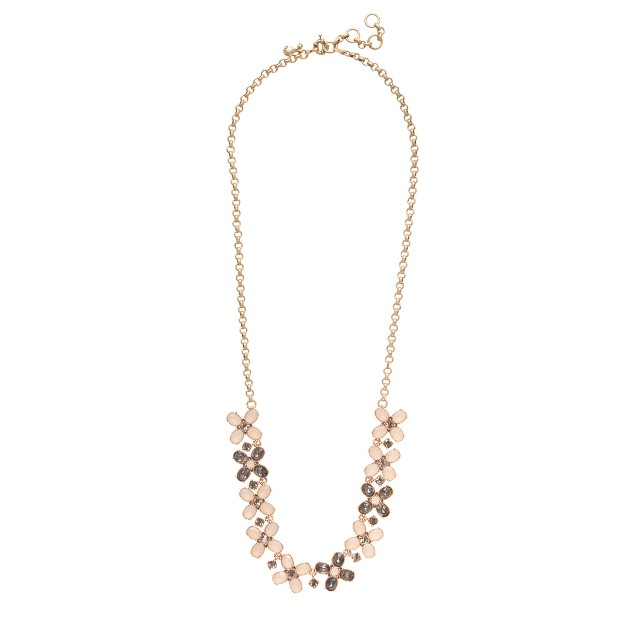 Crystal clovers necklace