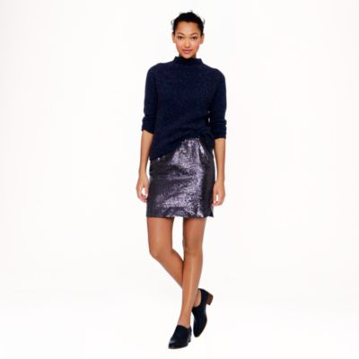 Shirttail mini in sequins : | J.Crew