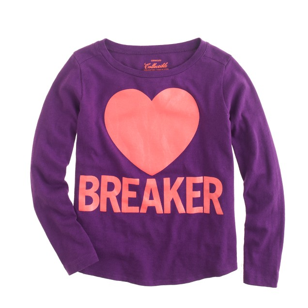 Girls' glow-in-the-dark heartbreaker tee