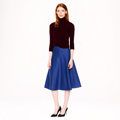 Collection scallop midi skirt