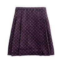 Collection festival berry tweed skirt