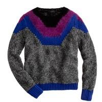 Handknit marled sweater