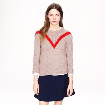 """Ribbed """"V"""" sweater"""