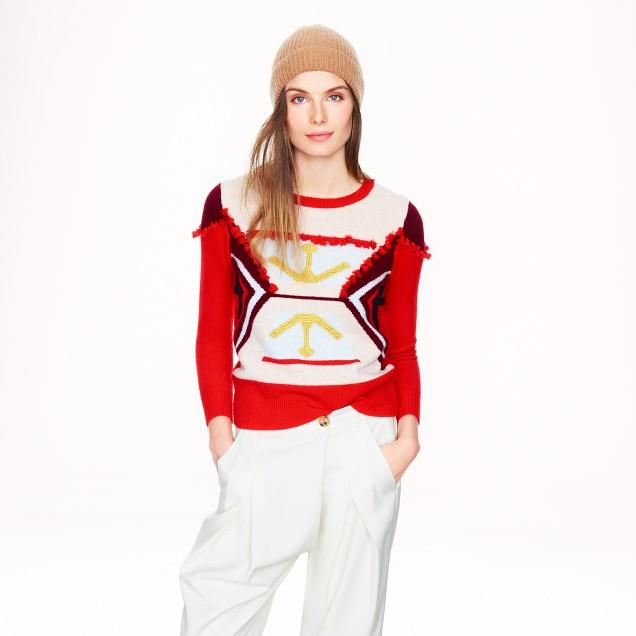 Lambswool tassel sweater