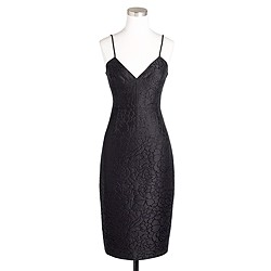 Floral jacquard dress in glitter black