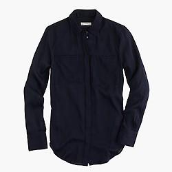 Tall silk pocket blouse