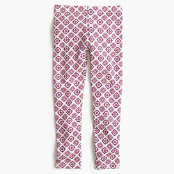 Girls' everyday leggings in geo tile