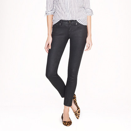 Tall toothpick jean in coated denim