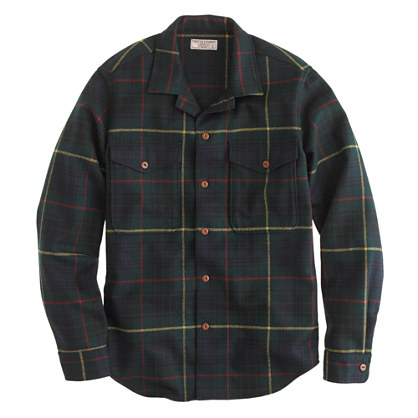 Wallace & Barnes shirt-jacket in English wool