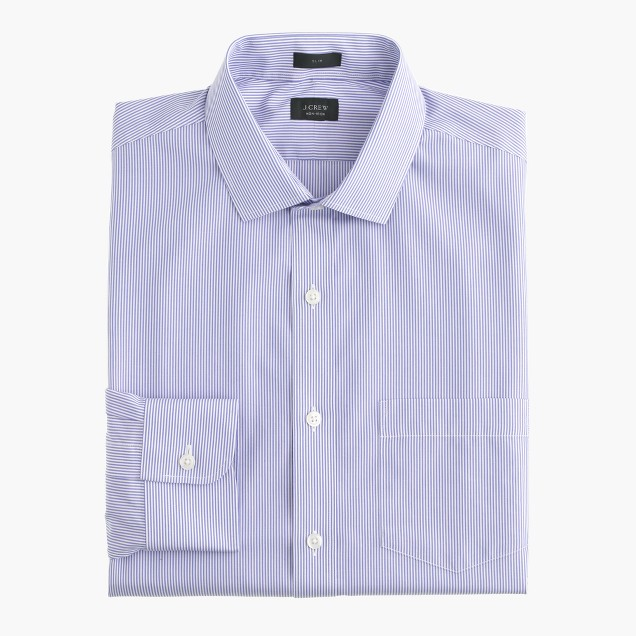 Ludlow Traveler shirt in peri stripe