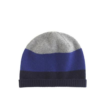 Boys' colorblock cashmere hat