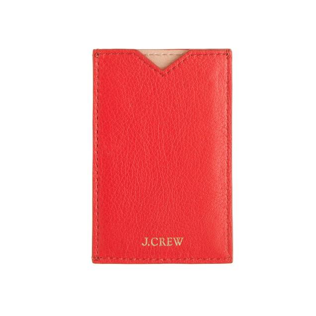 Colorblock leather card case