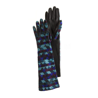Stained glass jacquard opera gloves