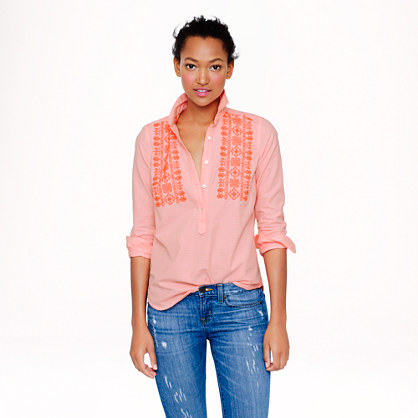 Popover in embroidered neon stripe