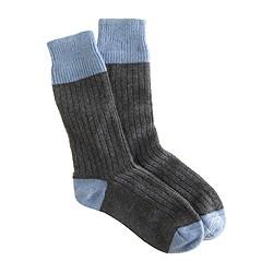 Corgi™ for J.Crew cashmere tipped socks