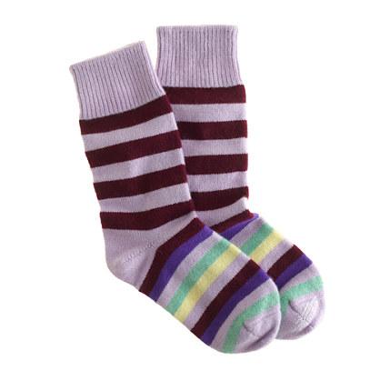 Corgi™ for J.Crew cashmere offset stripe socks