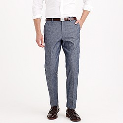 Ludlow suit pant in Japanese chambray