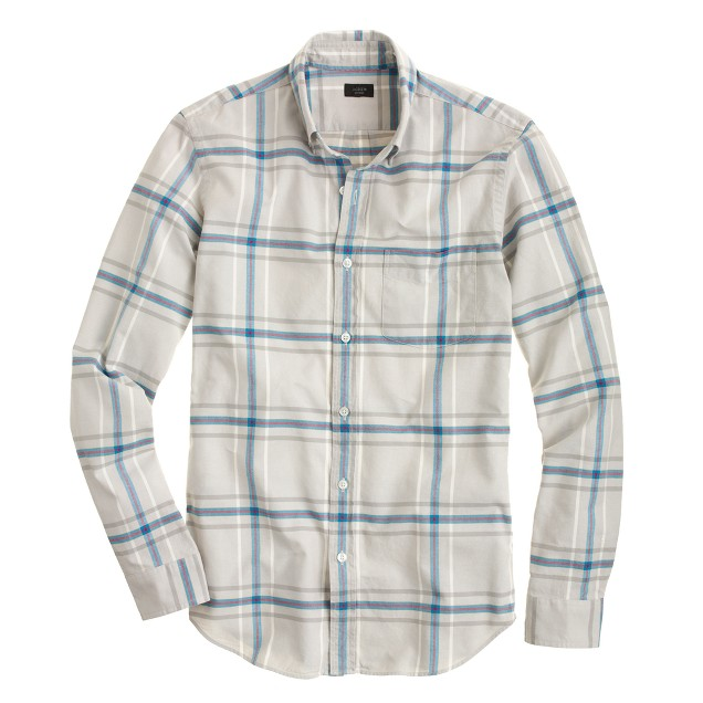 Vintage oxford shirt in pewter plaid