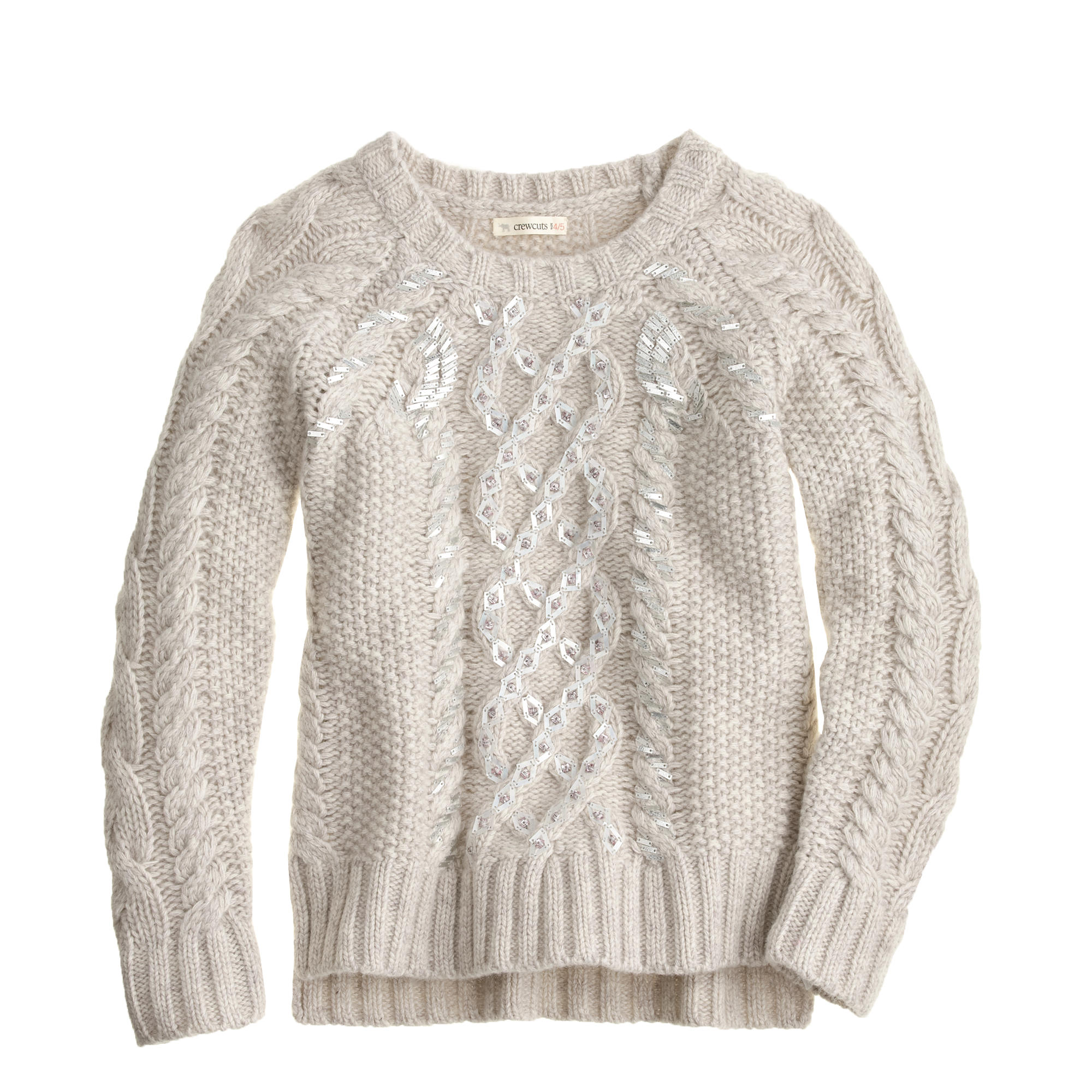 Knitting Sweaters For Girls : Girls sequin cable knit sweater j crew