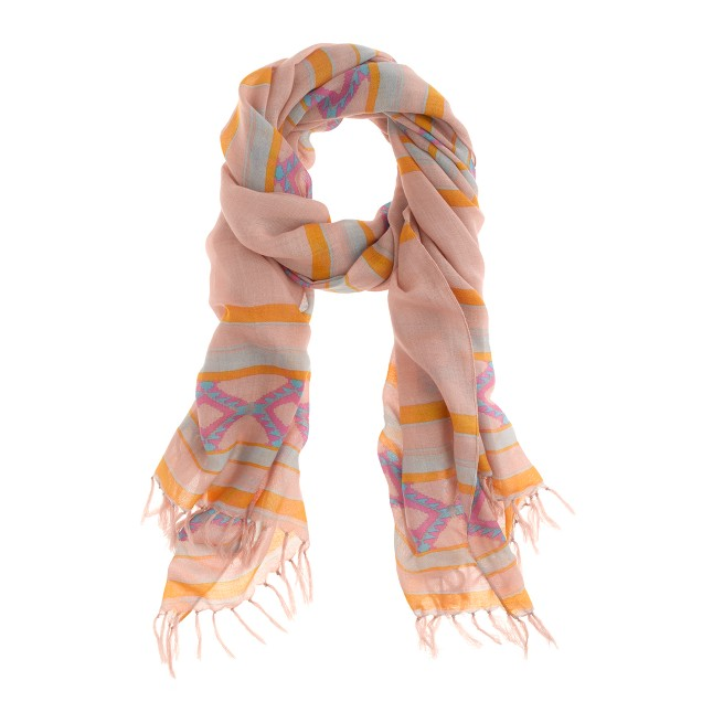 Diamond stripe scarf