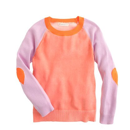 Girls' colorblock sweater