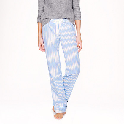 Pajama pant in end-on-end cotton stripe
