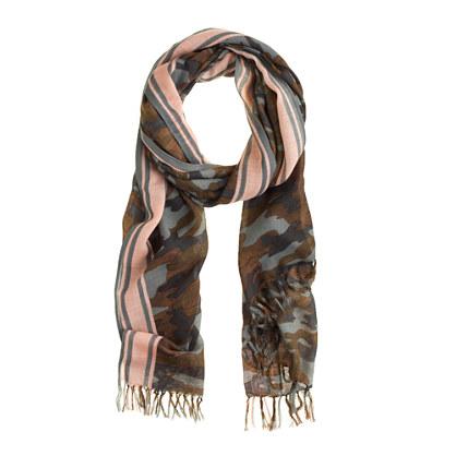 Camo wool scarf
