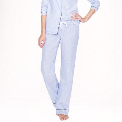 Pajama pant in end-on-end cotton