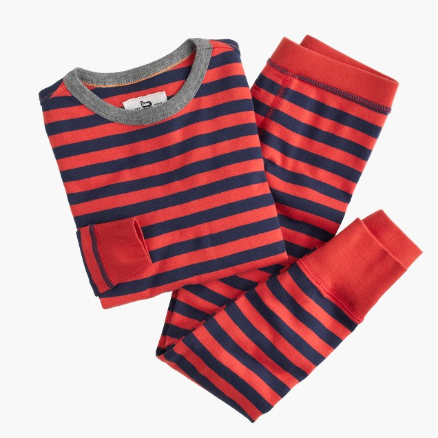 Boys' skinny-striped pajama set