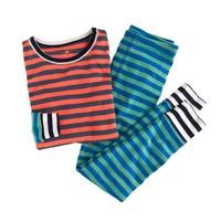 Boys' colorblock-stripe sleep set