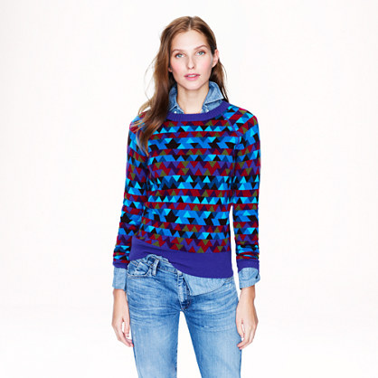 Collection cashmere stained-glass sweater