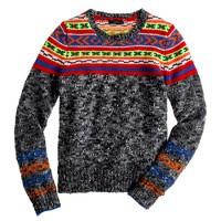 Marled Fair Isle sweater