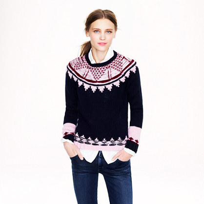 Handknit Fair Isle sweater