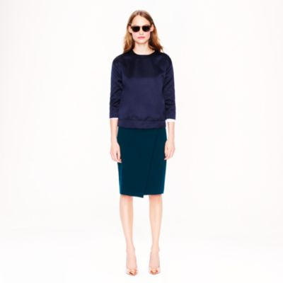wrap pencil skirt j crew