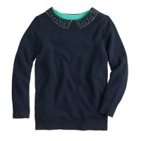 Collection cashmere jeweled-collar sweater