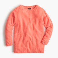 Girls' cashmere pocket sweater