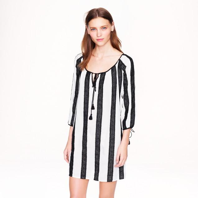 Lace-stripe tunic